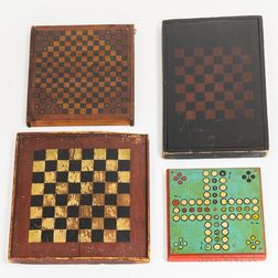 Four Painted Game Boards