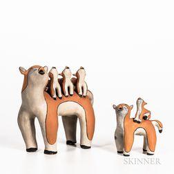 Contemporary Cochiti Pottery Animal Group