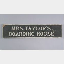 Painted Wooden Double-sided Trade Sign