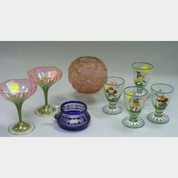 Eight Assorted Art Glassware and Table Items