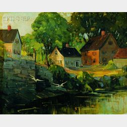 Robert Shaw Wesson (American, 1902-1967)    Harborside Cottages