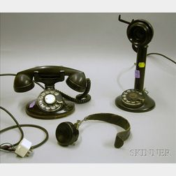 Vintage Candlestick Telephone, a Western Electric Telephone and Headset.