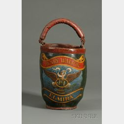 """""""Henry Walton"""" Paint-decorated Leather Fire Bucket"""