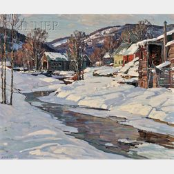Aldro Thompson Hibbard  (American, 1886-1972)      Covered Bridge, Vermont