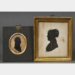 Two Framed Silhouette Portraits