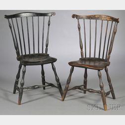 Two Windsor Fan-back Side Chairs