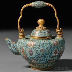 Gilt Cloisonne Teapot
