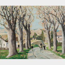 Anthony Thieme (American, 1888-1954)      Sycamore Trees, No. 10, Carretera Málaga