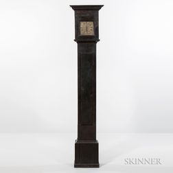 Early Black-painted Longcase Clock