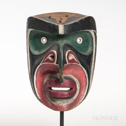 "Northwest Coast Bakwas ""Cockle-Hunter"" Mask"