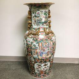 Monumental Famille Rose Vase