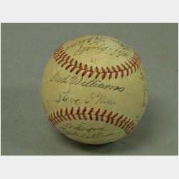 Circa 1952 Boston Red Sox Autographed Baseball