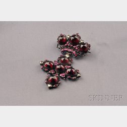 Antique Garnet and Pink Sapphire Pendant/Brooch