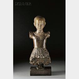 Pierre Carron (French, b. 1932)      Petite fille aux boucles d'oreille