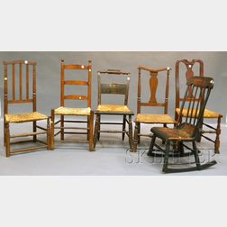 Six Assorted 19th Century Country Chairs