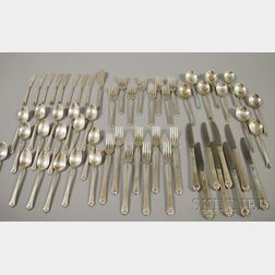 """Royal Crest """"Castle Rose"""" Pattern Sterling Silver Partial Flatware Service for   Eight"""