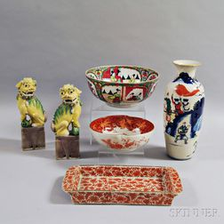 Six Pieces of Asian Ceramics