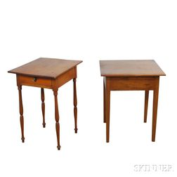 Two Federal Walnut Stands