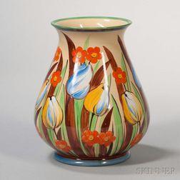 Wedgwood Millicent Taplin Design Cane Glazed Vase