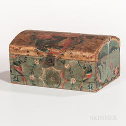 Wallpaper Covered Dome-top Box