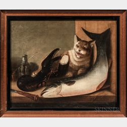 American School, Late 19th Century      Cat, Lobster, and Fish