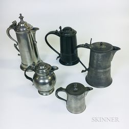 Five British Pewter Vessels