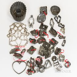 Approximately Forty Tin Cookie Cutters and Molds