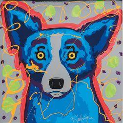 George Rodrigue (American, 1944-2013)      Blue Dog (AH10)