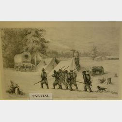 Lot of Twelve Framed Civil War Prints