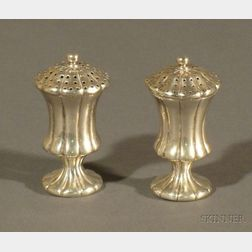 Pair of Indian Colonial Silver Casters
