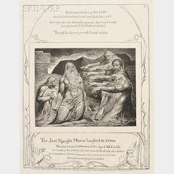 William Blake (British, 1757-1827)      Two Plates from The Book of Job
