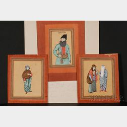 Three Persian Miniature Paintings
