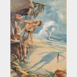 Everett Shinn  (American, 1876-1953)      Robinson Crusoe