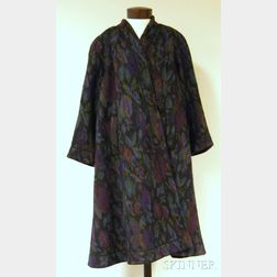Vintage Lady's Missoni for Bonwit Teller Purple Patterned Wool Coat