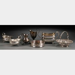 Seven Pieces of Assorted English Silver