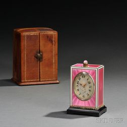 Tiffany & Co. Minute-repeating Enamel and Silver Carriage Clock