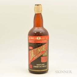 Baltimore Pride Straight Rye Whiskey 7 Years Old 1935, 1 quart bottle