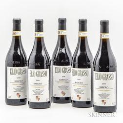 Elio Grasso Barolo Ginestra Casa Mate 2008, 5 bottles