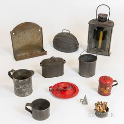 Ten Tin Domestic Items