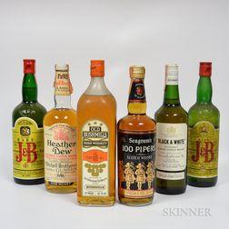 Mixed Whisky, 3 40 oz bottles 2 quart bottles 3 4/5 quart bottles 1 750 ml bottle