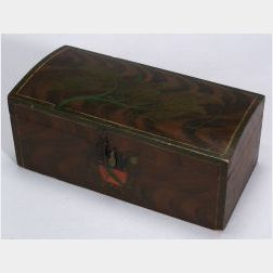 Paint Decorated Dome-top Pine Box
