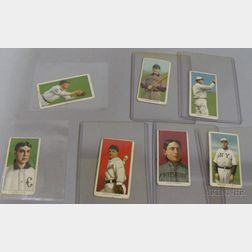 Five 1909-1911 T206 Sweet Caporal Cigarettes and Two Sovereign Cigarettes Baseball   Cards