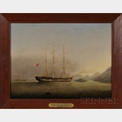 Attributed to Stephan Dadd Skillett (British, 1817-1866)      Portrait of the Auxiliary Steam Ship Maria