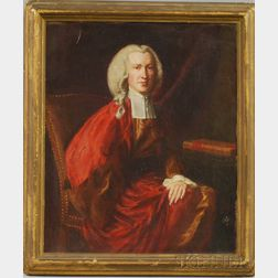 Mary Brewster Hazelton Oil on Canvas Portrait of Judge Martin Howard After   Copley