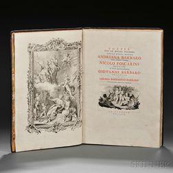 Poesie per le Nozze Solenni della Nobil Donna Andriana Barbaro col Nobil Uomo Nicolo Foscarini Dedicate a Sue Eccellenze Giovanni Barba