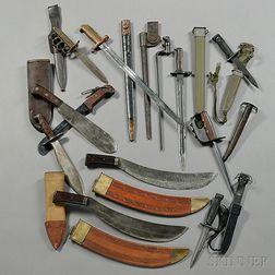 Twelve Bayonets and Knives