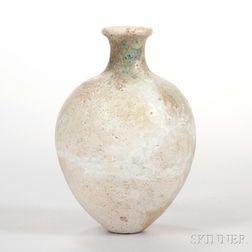 Beige-glazed Pottery Jar