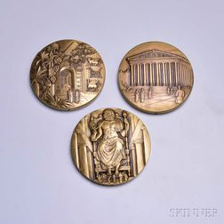 Six Medallic Art Co. Ancient Wonders of the World Bronze Calendar Medals