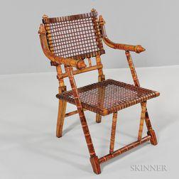 George Jacob Hunzinger Maple Armchair
