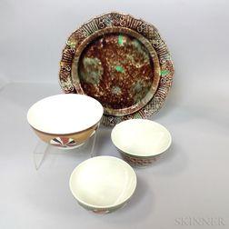 Four Don Carpentier Ceramic Items